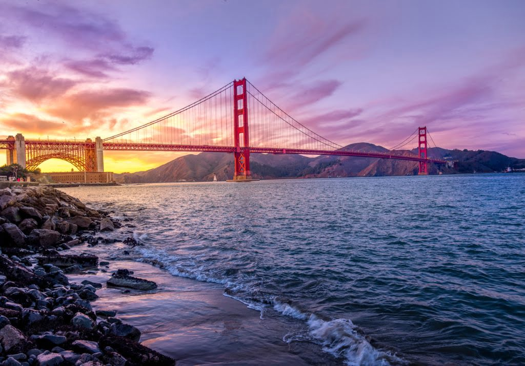 Sunset over the Golden Gate Bridge. Photo by Umer Sayyam