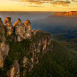 View of the Three Sisters rock formation in the Blue Mountains