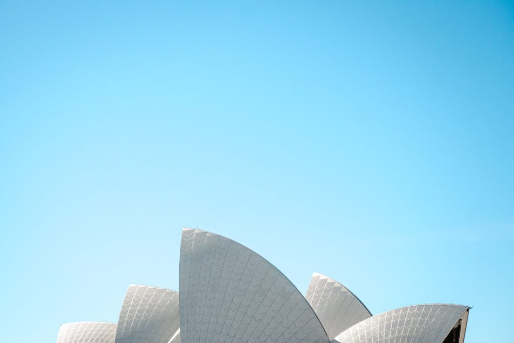 The sails of Sydney Opera House. Photo by Daniel Jacobs on Unsplash