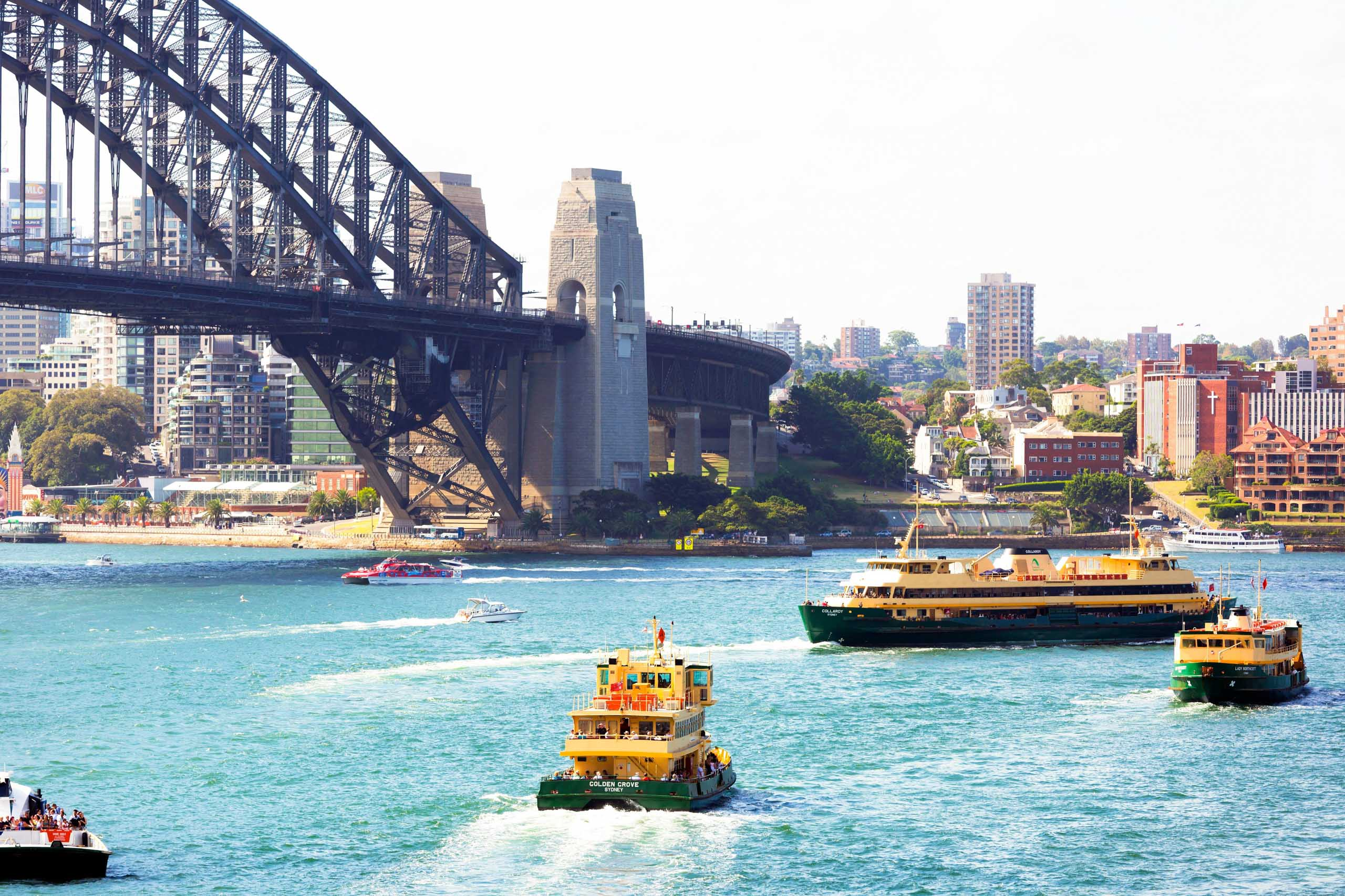 Sydney ferries in the Harbour
