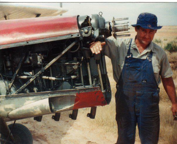 Cliff York with vintage plane