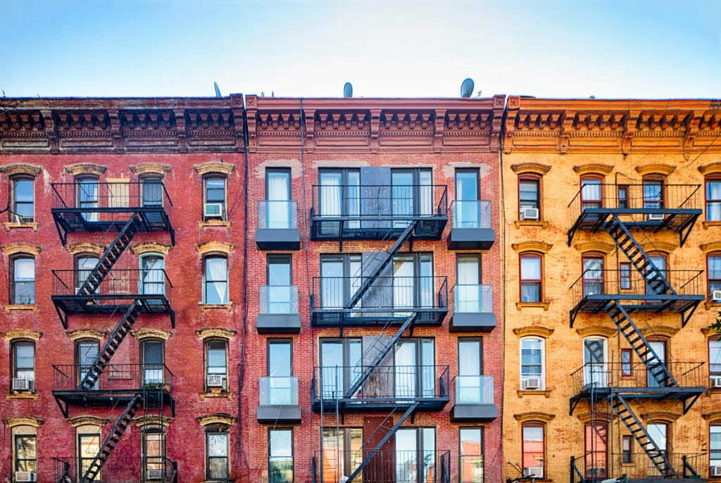 Colorful Williamsburg apartment buildings