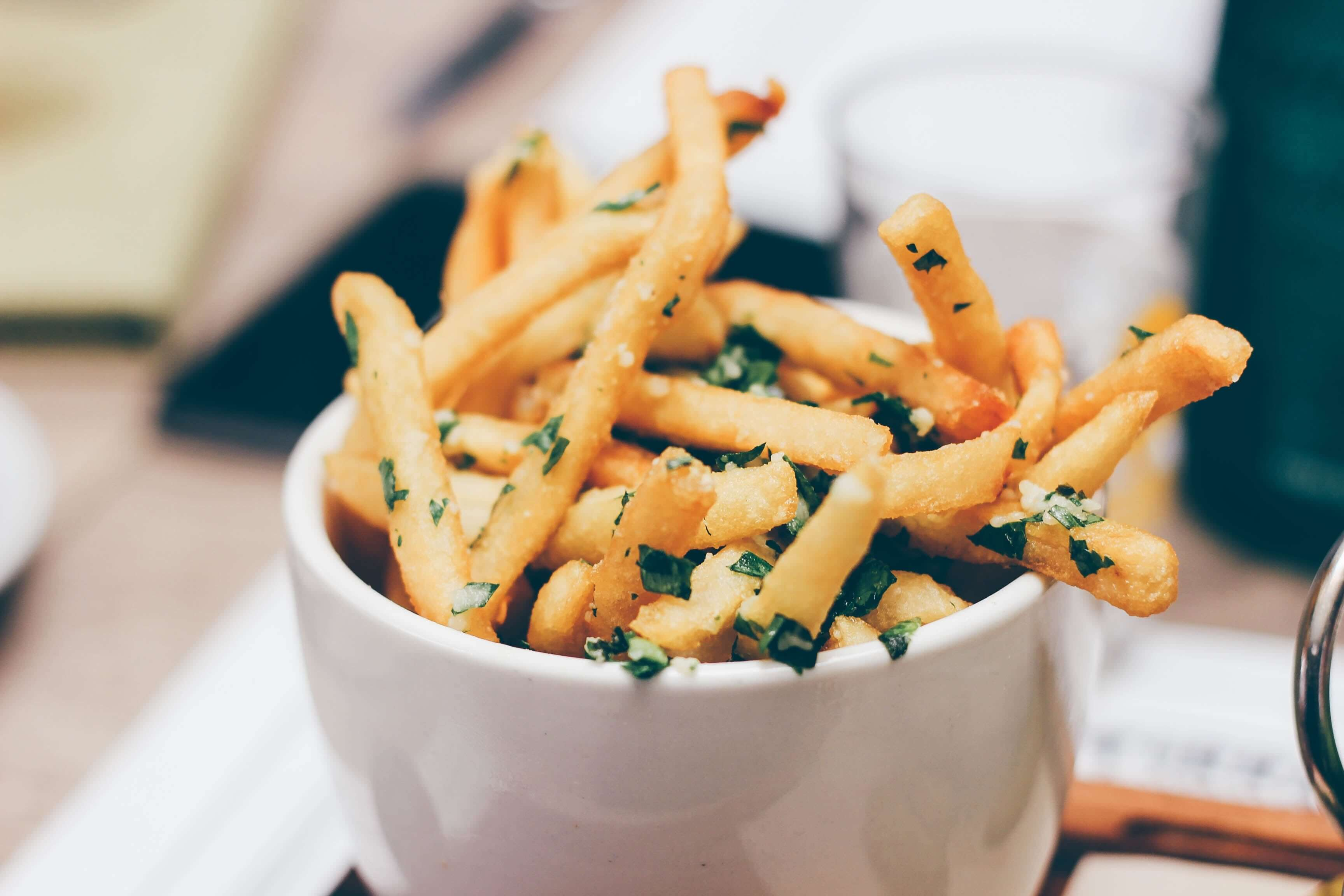 Close up of hot chips. Photo by Stephanie McCabe on Unsplash