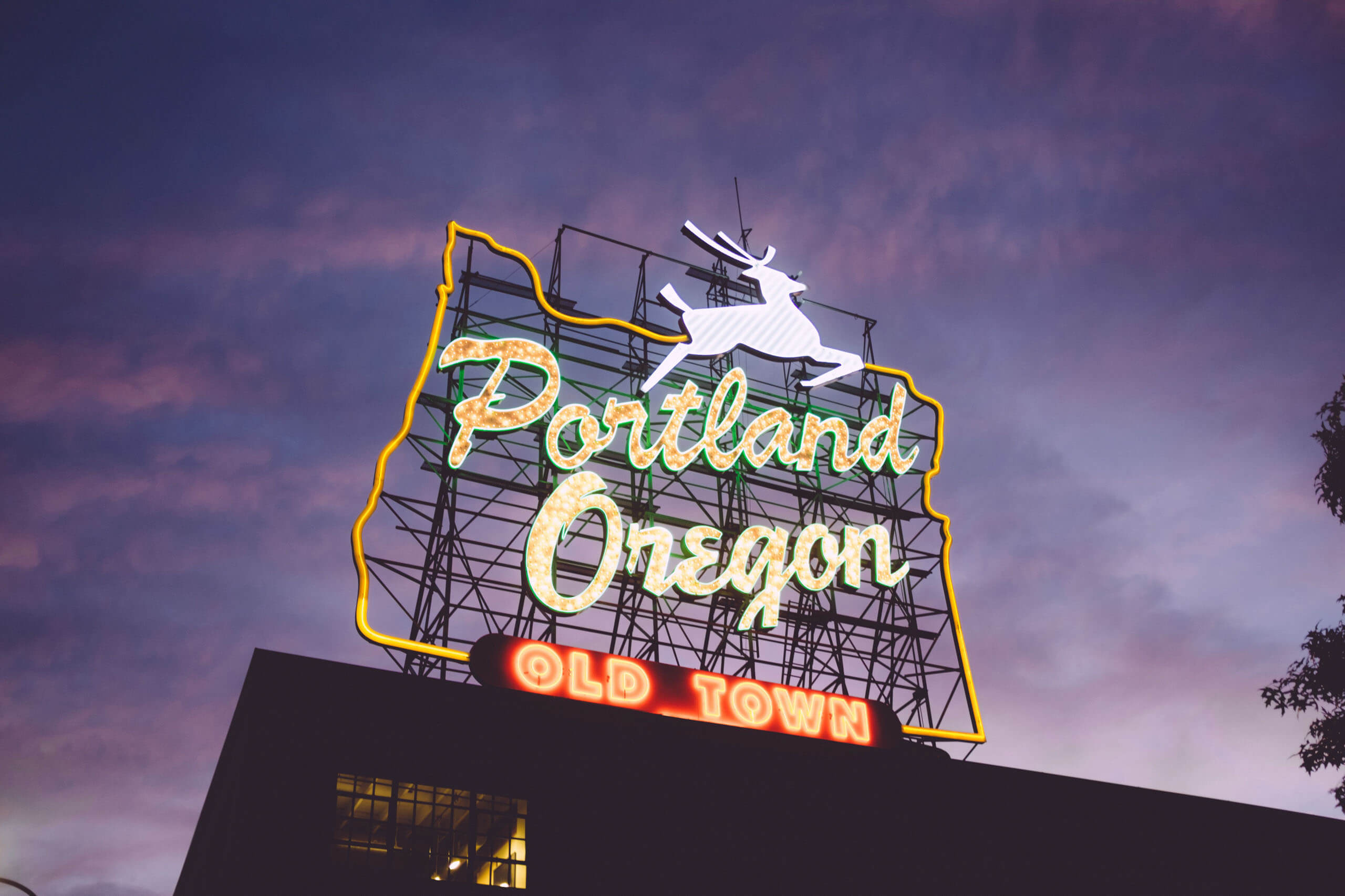 Portland Old Town sign. Photo by Zack Spear on Unsplash.