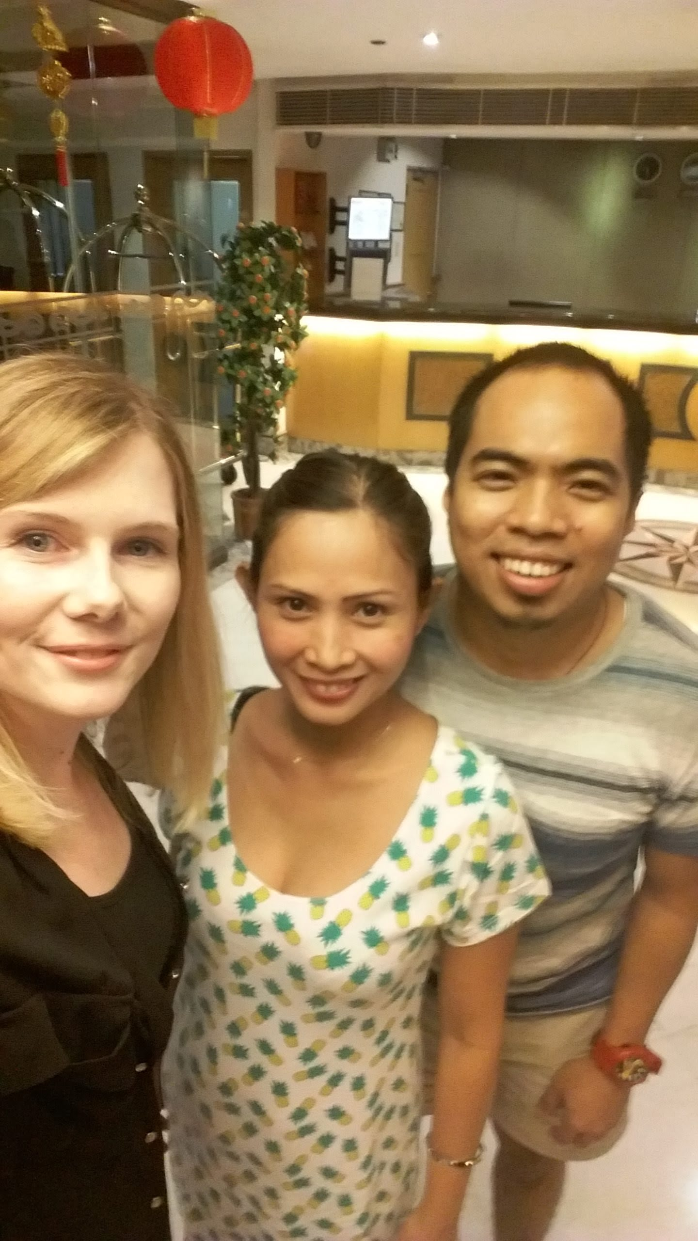 Sandra (left) with team members Jade and Ray