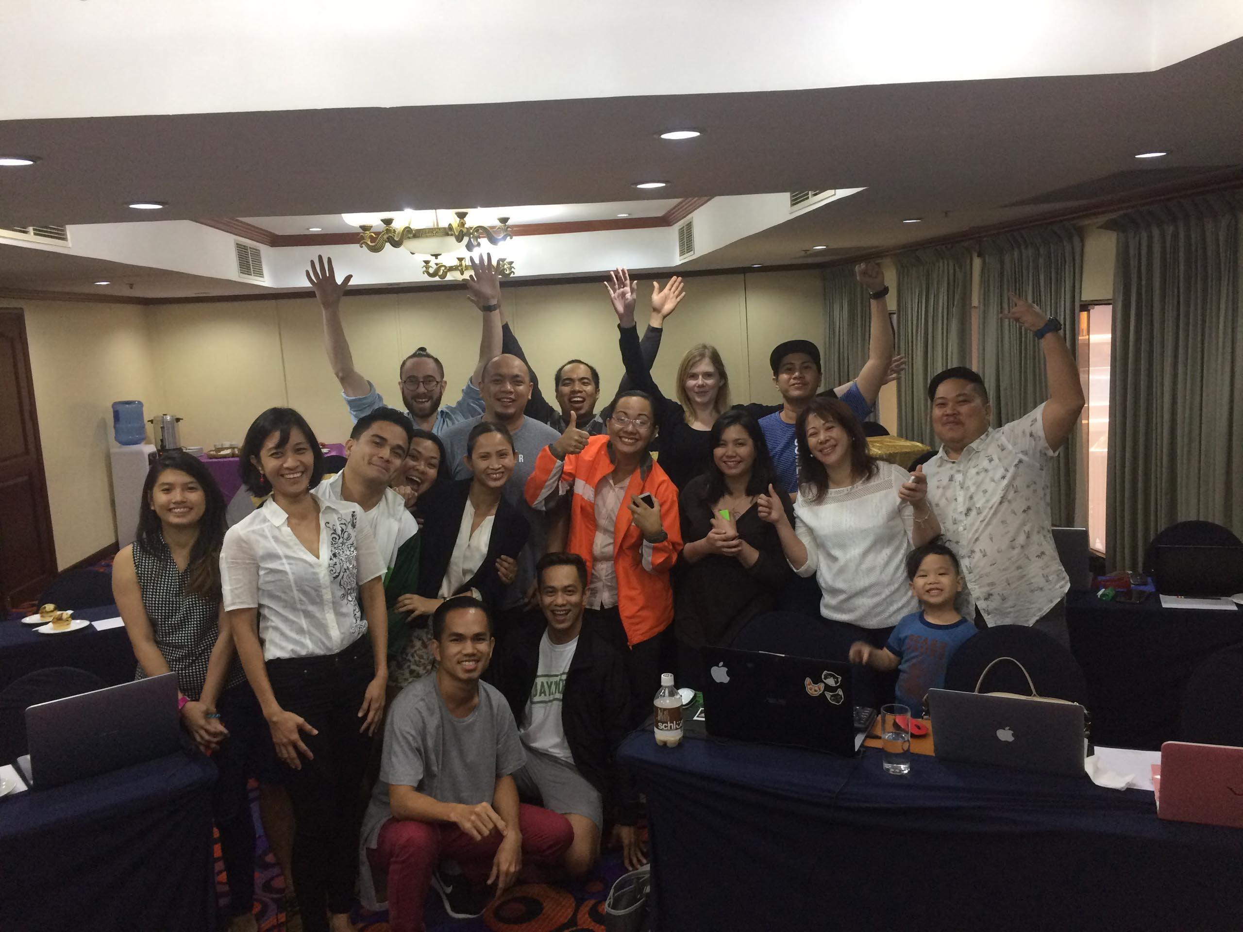 Sandra, Aron and the team at the Philippines conference