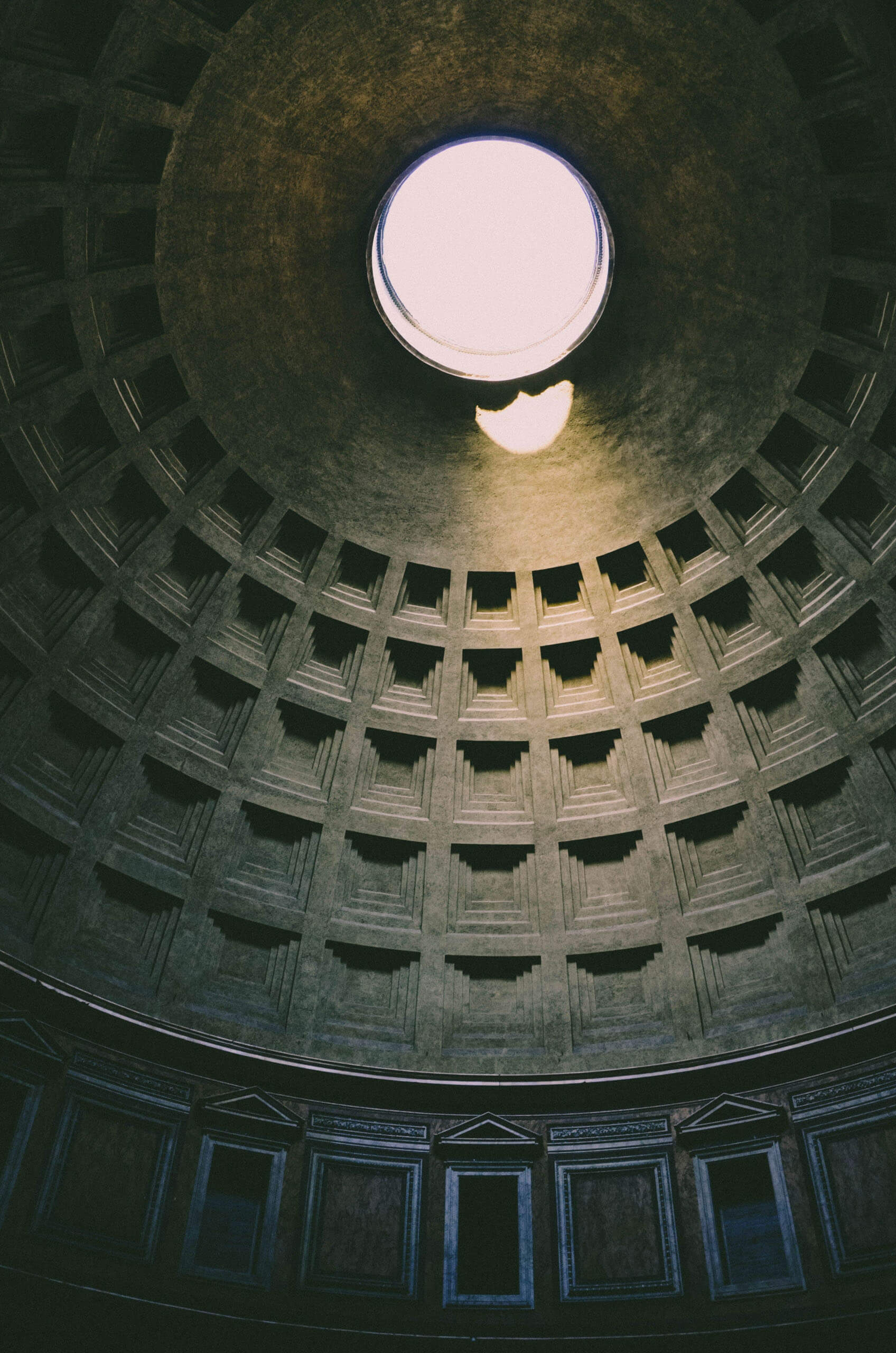 The ceiling of the Pantheon. Photo by Lode Lagrainge on Unsplash