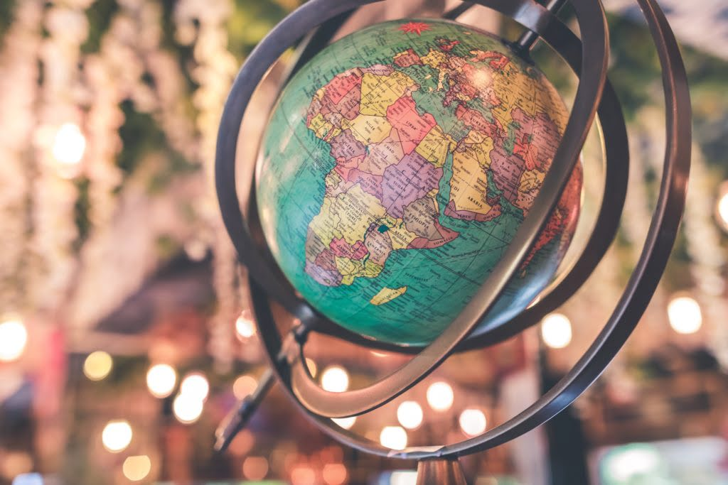 Globe. Photo by Artem Bali on Unsplash