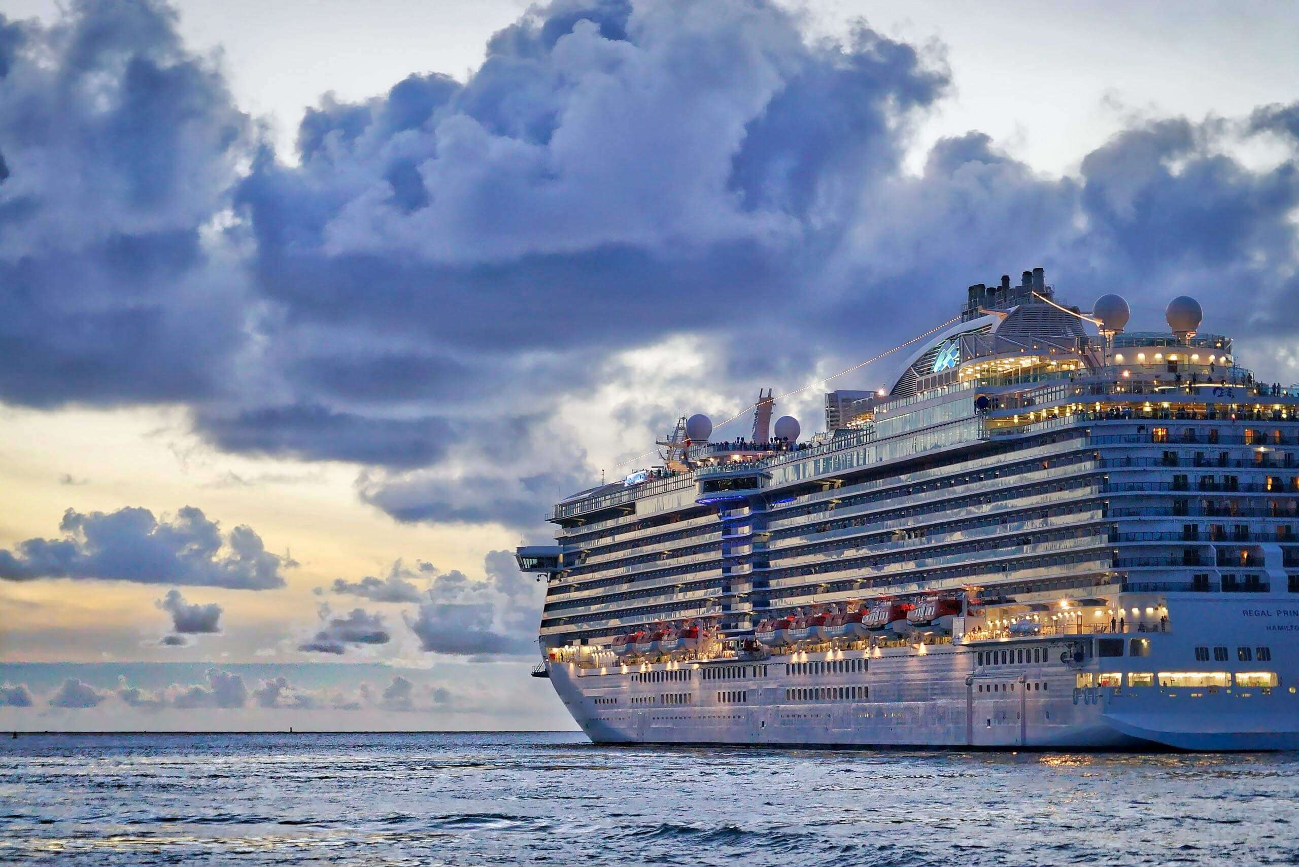 Large cruise ship sailing on the ocean. Photo by Peter Hansen on Unsplash