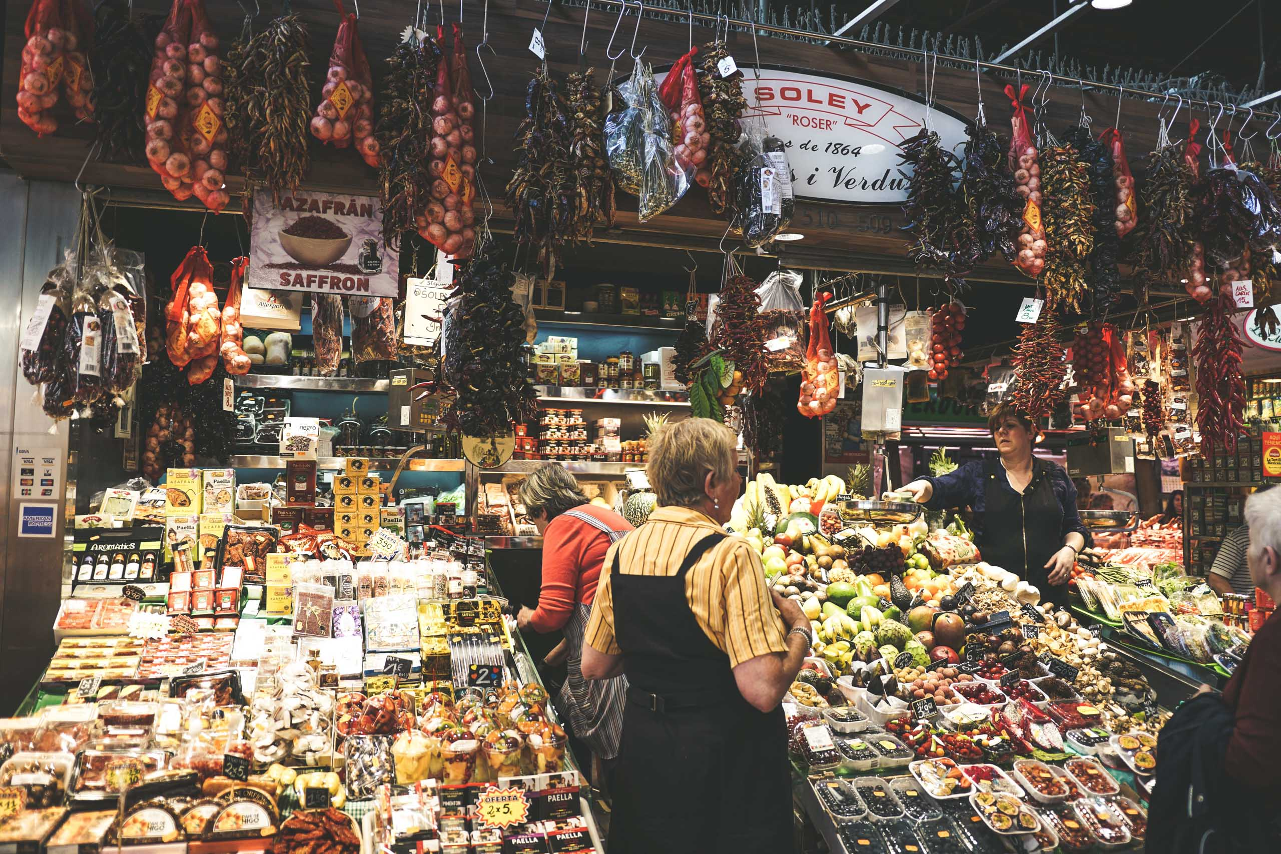 Market stall in Barcelona. Photo by Jessica To'oto'o on Unsplash
