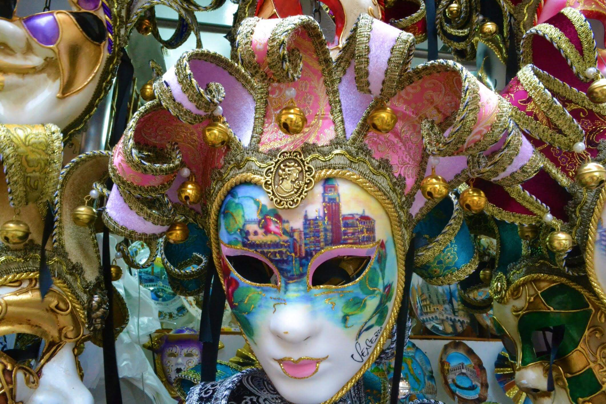 Colourful Venetian masks