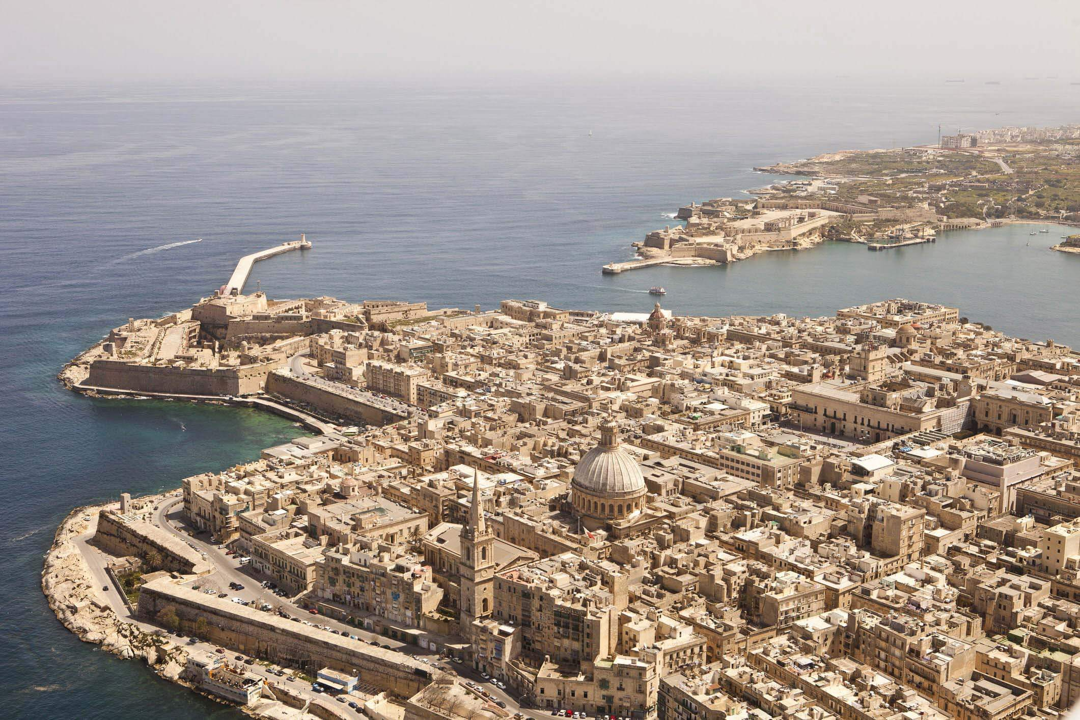 Aerial View of Valletta in Malta